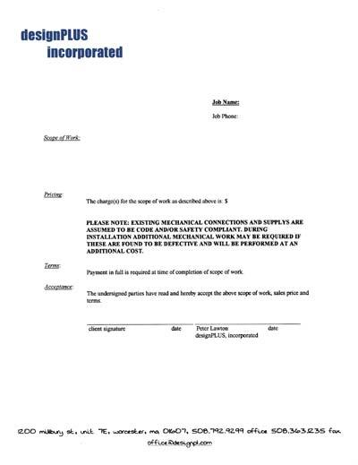 one-page contract printed